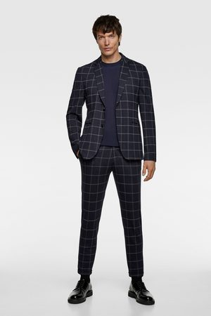 Zara Windowpane check suit blazer