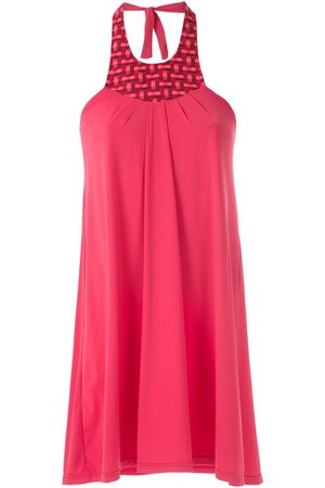 AMIR SLAMA Halter neck panel dress