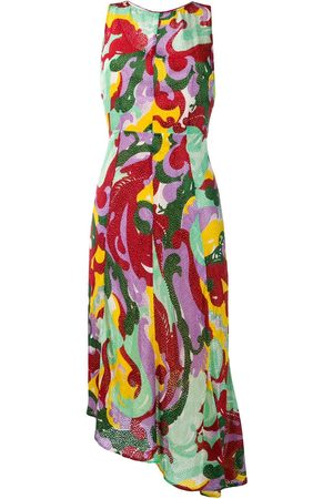 La DoubleJ Textured print asymmetric dress