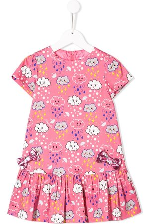 Simonetta Cloud pattern bow dress