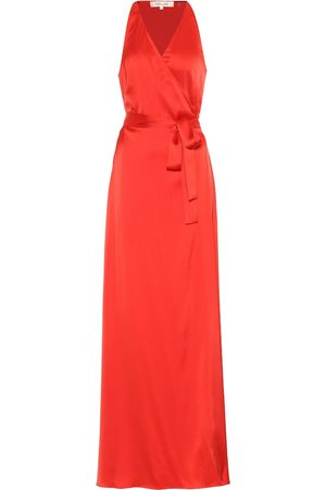 Diane von Furstenberg Paola satin maxi wrap dress