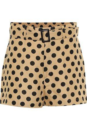 Lisa Marie Fernandez Polka-dot linen shorts