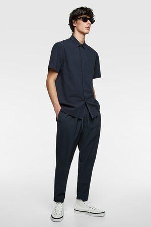 Zara Seersucker jogging trousers