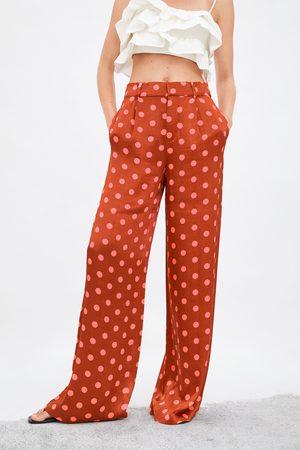 Zara Limited edition polka dot wide-leg trousers