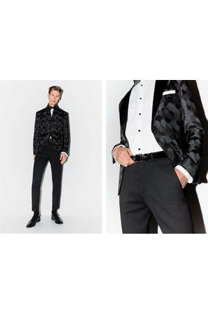 Zara Jacquard tuxedo blazer