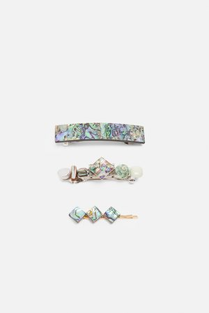 Zara Pack of abalone shell hair clips