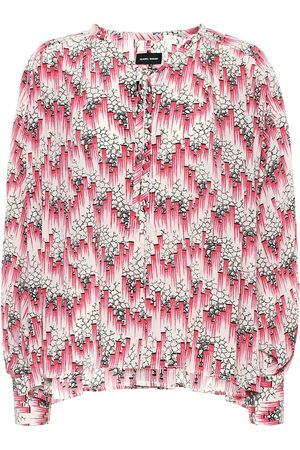 Isabel Marant Amba printed silk-blend crêpe blouse