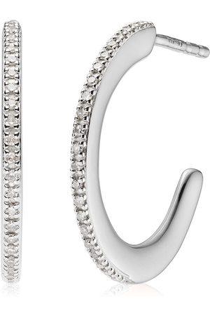 Monica Vinader Women Earrings - Fiji Skinny Hoop Diamond earrings