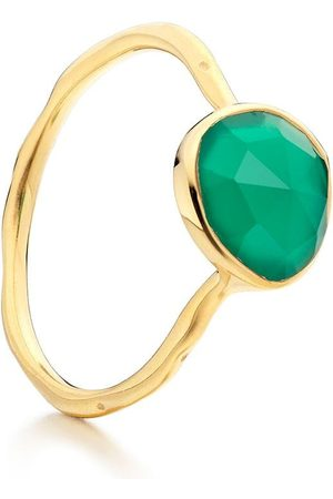 Monica Vinader Siren Stacking Green Onyx ring