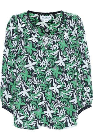 Velvet Women Blouses - Sterling floral blouse