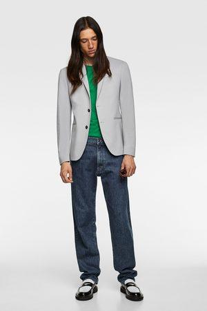 Zara 4-way comfort knit suit blazer