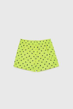 Zara Bird print swimming trunks