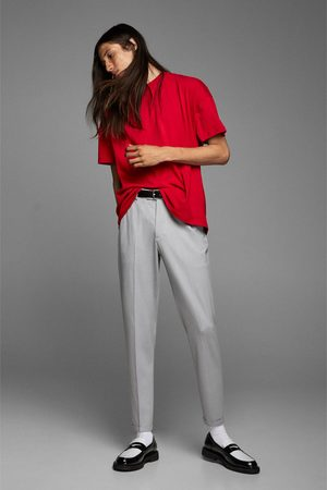 Zara 4-way comfort knit suit trousers with detail