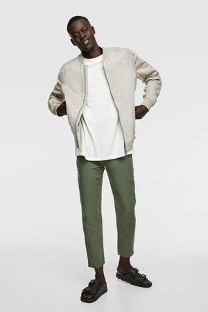 Zara Men Bomber Jackets - Rustic bomber jacket