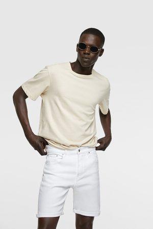 Zara Men Bermudas - Coloured denim bermuda shorts