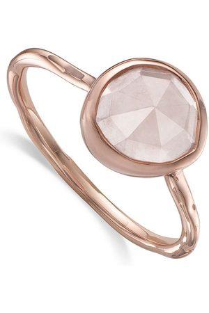 Monica Vinader Women Rings - Siren Stacking Rose Quartz ring
