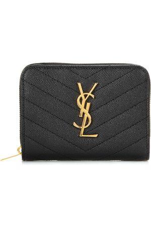 Saint Laurent Women Wallets - Monogram Compact leather wallet