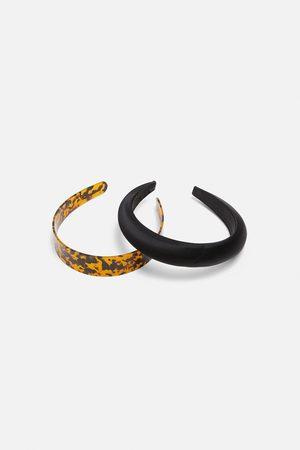Zara 2-pack of tortoiseshell-effect and satin-finish headbands