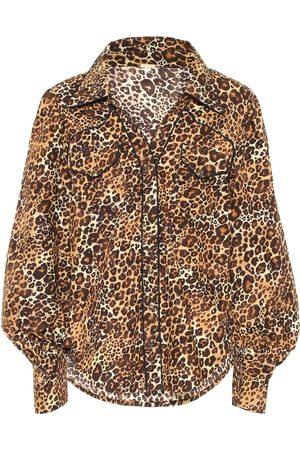 JOHANNA ORTIZ Leopard-print cotton shirt