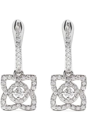 De Beers 18kt Enchanted Lotus diamond sleeper earrings