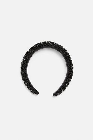 Zara Satin-finish headband with rhinestones