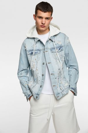 Zara Hooded denim jacket