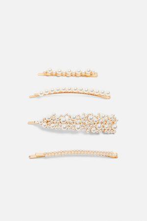 Zara Pack of pearl bead hair clips