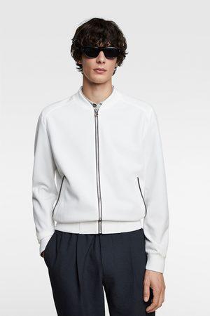 Zara Piqué bomber jacket