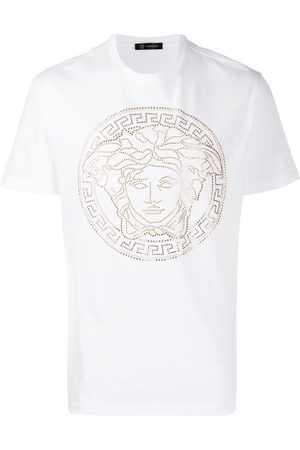 VERSACE Medusa motif studded T-shirt