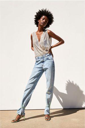 Zara Sequinned bodysuit
