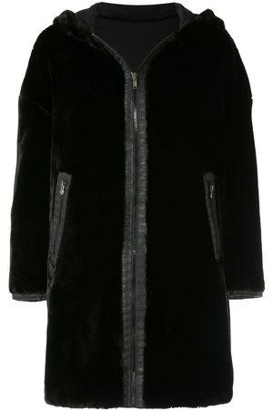 Fendi Reversible Long Sleeve Fur Coat