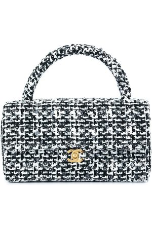 CHANEL Quilted CC logo hand bag