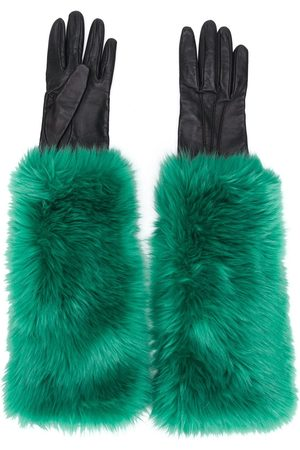 Prada 2000 faux fur lined gloves