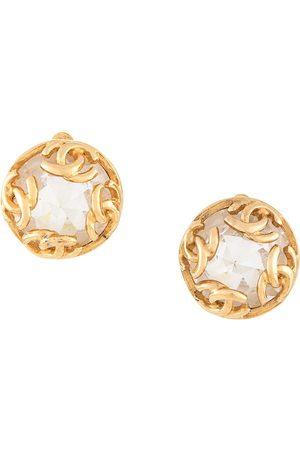 CHANEL Rhinestone earrings