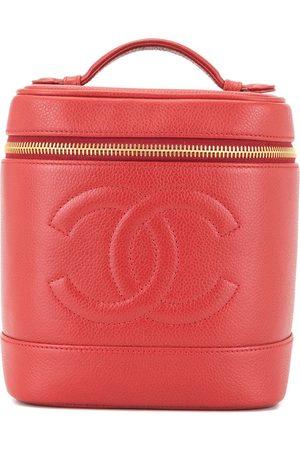 CHANEL CC logos cosmetic vanity hand bag