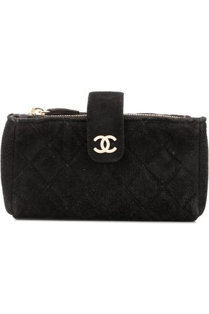 CHANEL Diamond quilted makeup bag