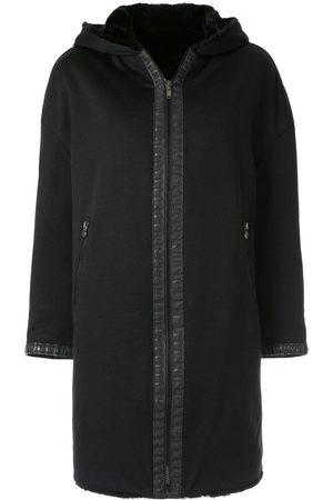 Fendi Hooded zip-up coat