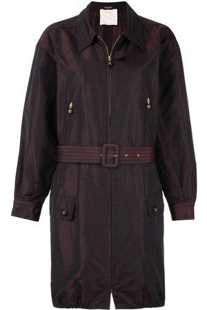 CHANEL Belted zip-up coat