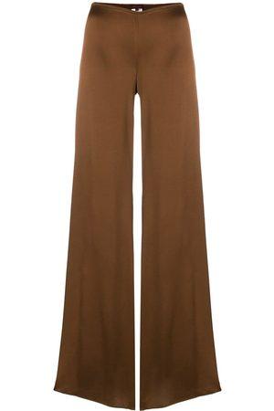 ROMEO GIGLI Glossy flared trousers