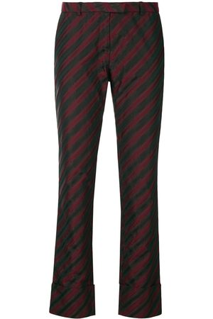 ROMEO GIGLI Diagonal stripe slim trousers
