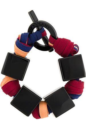 Giorgio Armani Square charm woven bracelet