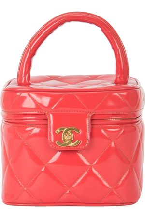 CHANEL 1994-1996 CC diamond-quilted cosmetic vanity bag