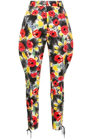 CHANEL Floral tailored trousers
