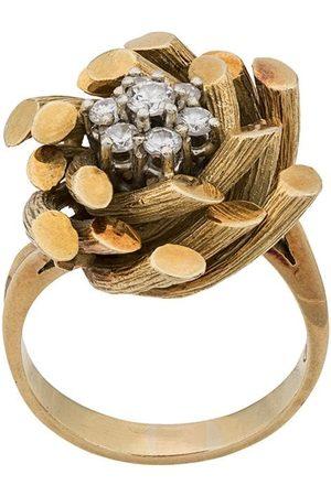 Katheleys Vintage 1970's 18kt gold and diamond Gubelin bamboo ring