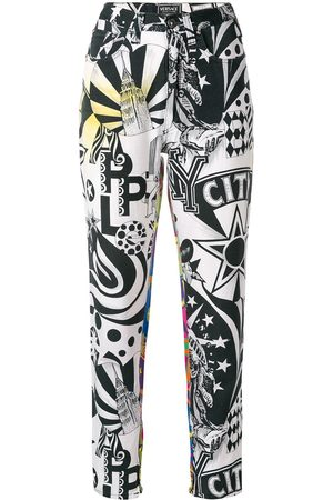 VERSACE New York printed trousers