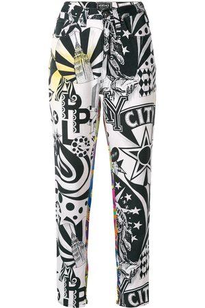 VERSACE New York printed trousers
