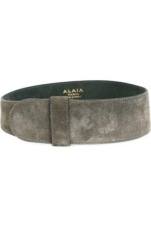 Alaïa Women Belts - Wide suede belt