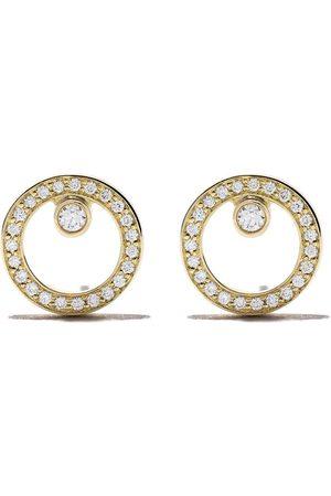 Georg Jensen 18kt Halo brilliant cut diamond earrings