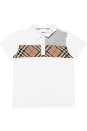 Burberry Girls Polo Shirts - Vintage Check cotton polo shirt