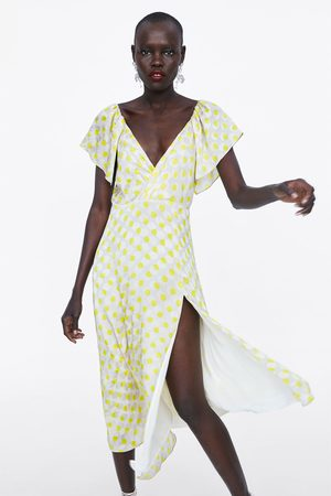 Zara Long polka dot dress